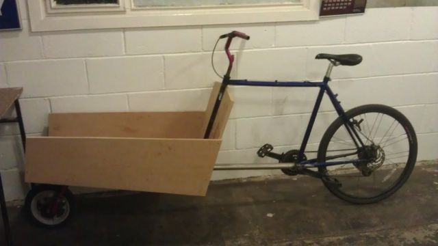 Cargo Bike Box installed