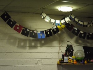 Beautiful garlands of floppies