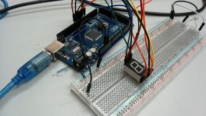 Seven Segment Display with all pins connected to Arduino