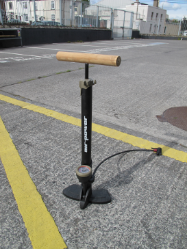 Wooden Bicycle Pump