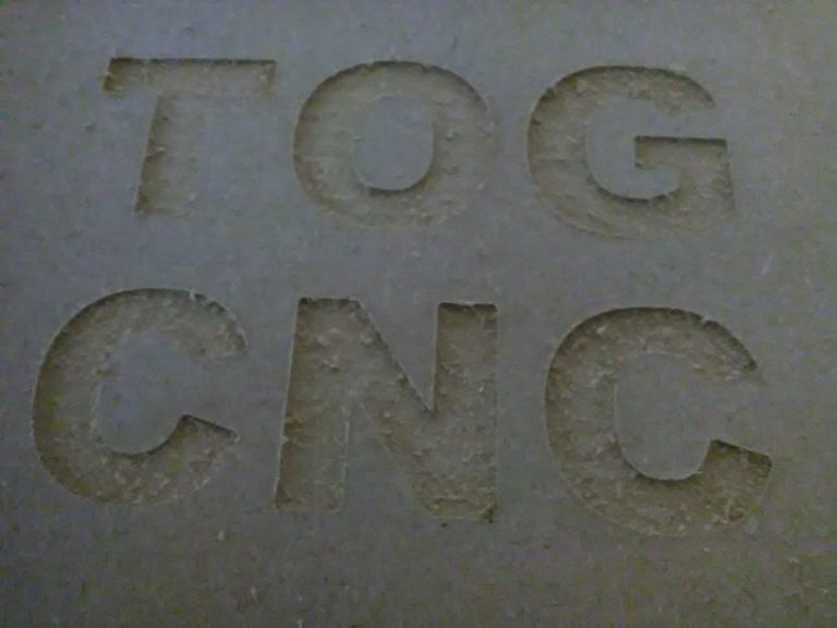 First cuts with TOG's DIY CNC router